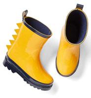Dino plate rain boots