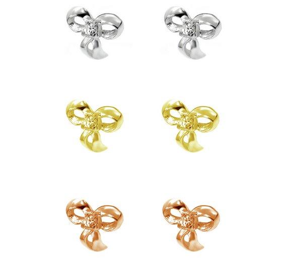 argos crystal bow earings
