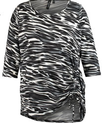 Monochrome Zebra Print Top