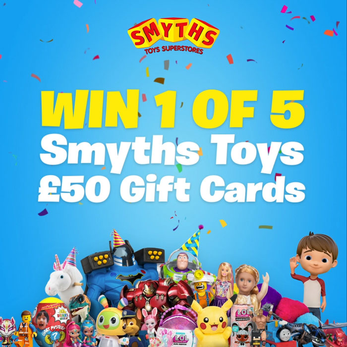 win 1 of 5 Smyths toys £50 gift cards