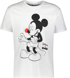 White Mickey Mouse Short Sleeve Cotton Unisex T-Shirt