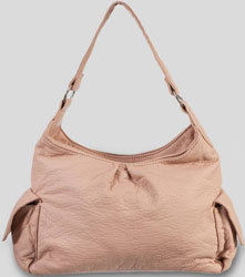 Pale Pink Slouch Shoulder Bag