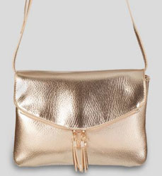 Gold Envelope Cross Body Bag