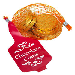 Net of Milk Chocolate Gold Coins