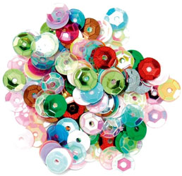 Craft Factory Multi Coloured Cup Sequins 5mm 5g