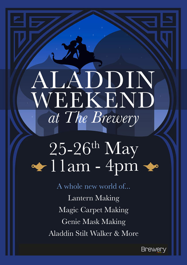 Aladdin weekend at the brewery