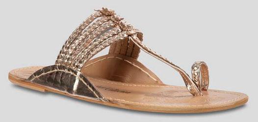 Gold Plaited Toe Post Sandal