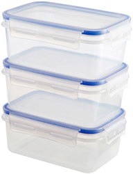 Sainsbury's Home Klip Lock Storage Set 900ml x3