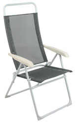 High Back Camp Chair - Grey