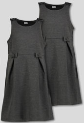 Grey Jersey Pinafore 2 Pack (3-12 years)