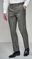 Grey Donegal Suit: Trousers