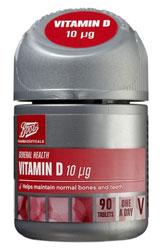 Boots Vitamin D 10 µg - 90 tablets