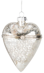 Glass Heart Compartment Bauble