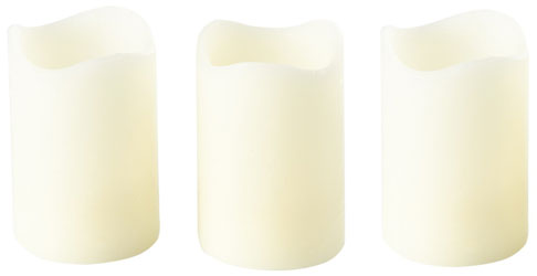 Set of 3 Flickering LED Candle