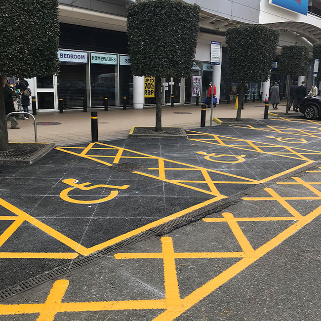 new disabled parking bays