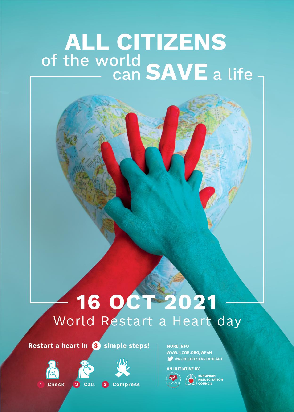 world restart a heart day poster